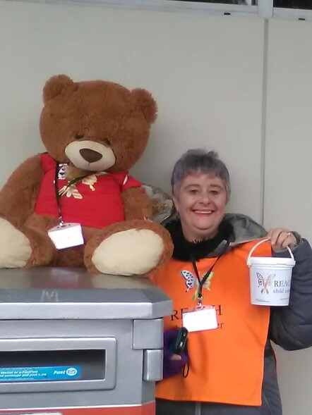 Bucket Appeal - 1st September 2017 - A big thank you to Jan who stood in the freezing cold at Eastgate (even Eddie bear got a bit chilly.)
